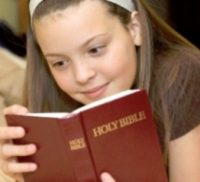 Children Reading The Bible